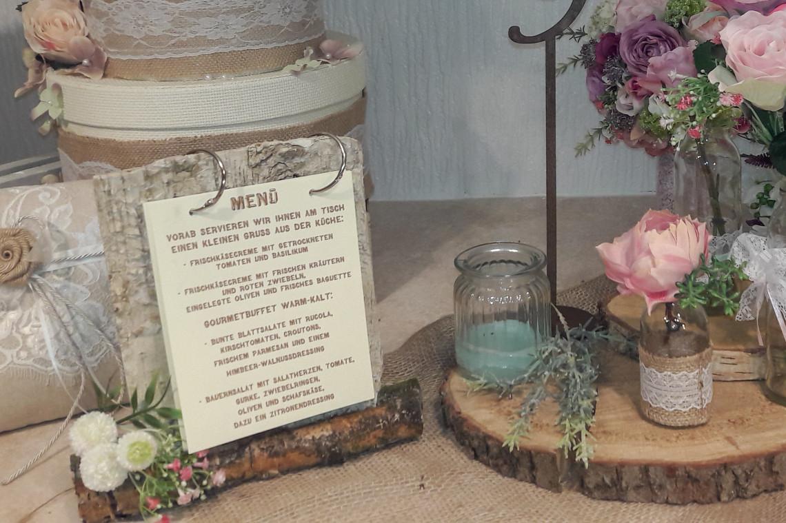 Menükarte für Vintagehochzeit 1140x759 - Ideen Fee - Hochzeitsmanufaktur